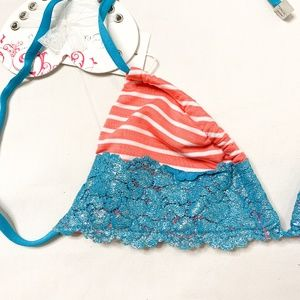 Beach Bunny Swim - BEACH BUNNY On The Water Front Lace Tri NWT S 1237